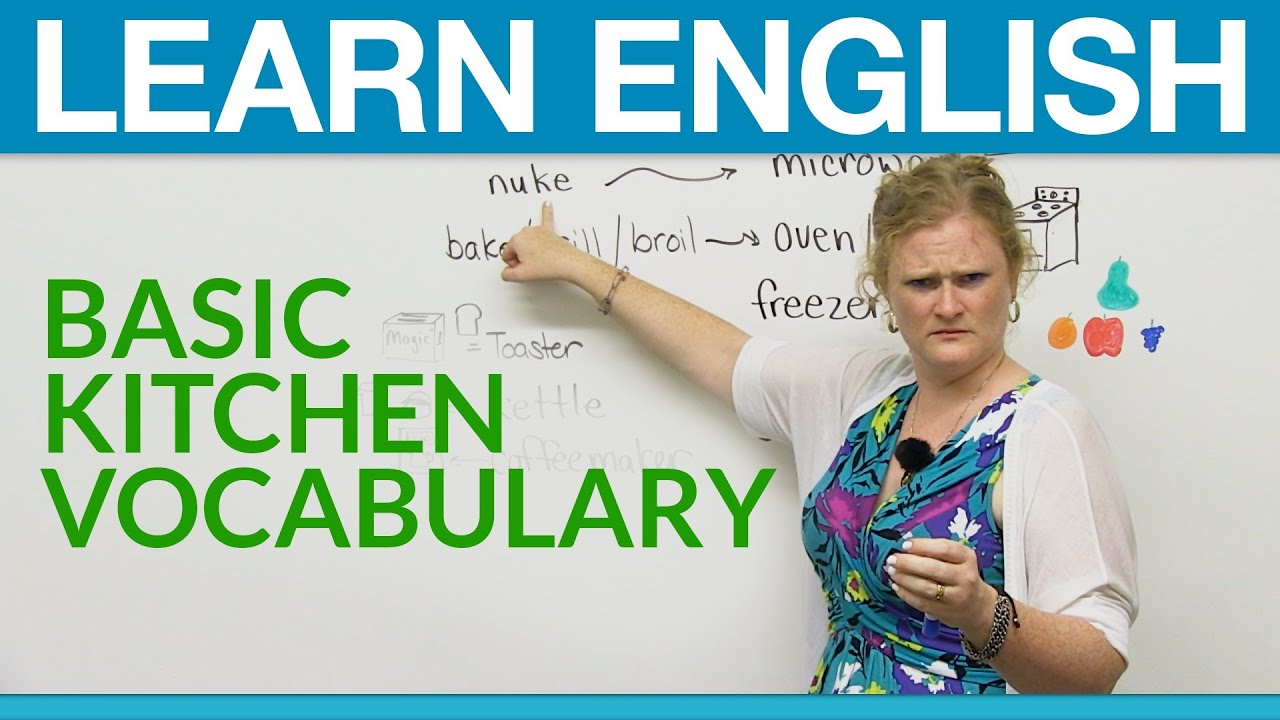 Restaurant Kitchen Vocabulary learn english: basic kitchen vocabulary - youtube
