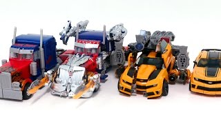 Transformers Movie 3 Dotm Leader Bumblebee Optimus Prime Same 4 Vehicles Truck Robot Car Toys