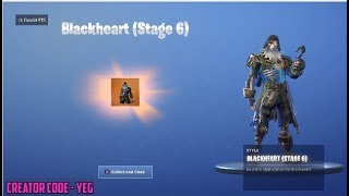 *NEW* UNLOCKING BLACKHEART STAGE 6 on Fortnite Battle Royale Season 8