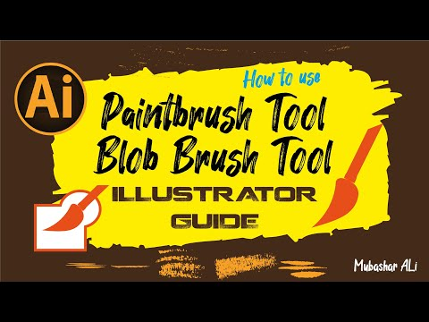How To Use Paintbrush And Blob Brush Tools In Illustrator CC Class /4 Urdu/Hindi | By Mubashar Ali