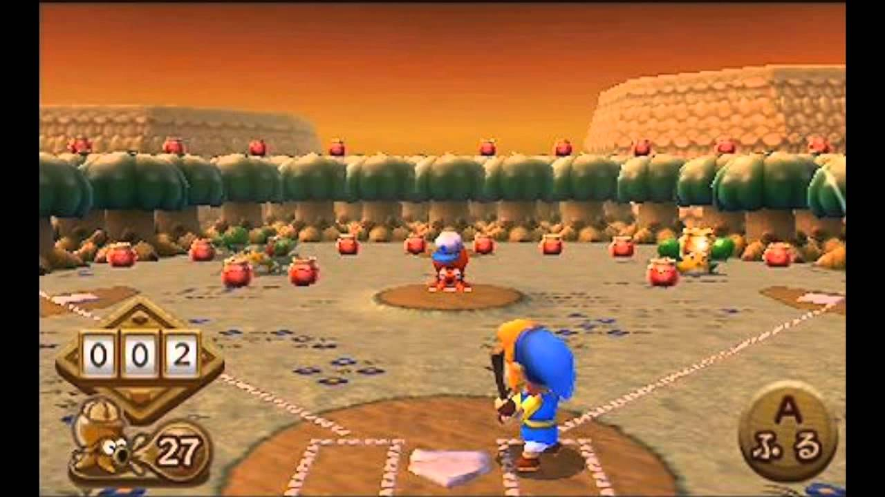 The Legend of Zelda: A Link Between Worlds - Baseball Gameplay - YouTube