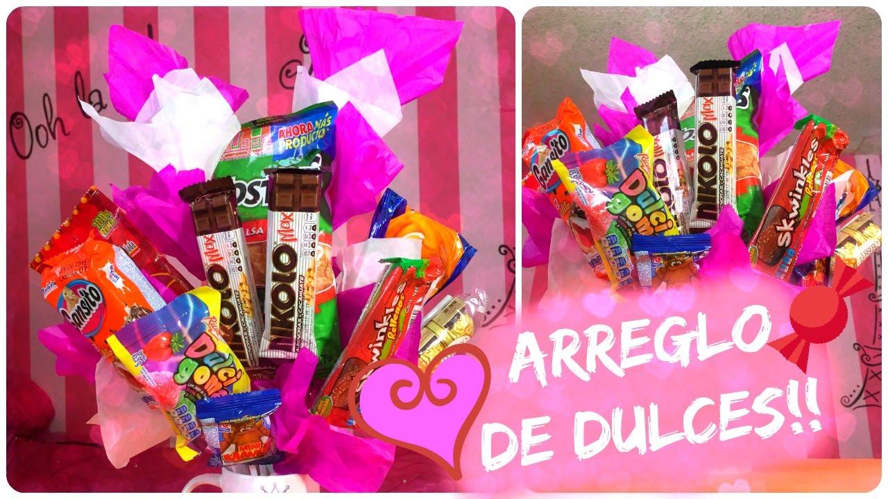 Arreglo de dulces para regalar el dia de las madres 10 - Regalos navidad mama ...