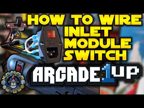 How to Wire Stock Arcade1Up Power Switch to Inlet Module Switch Tutorial (Power ENTIRE A1Up Cab!) from Kongs-R-Us