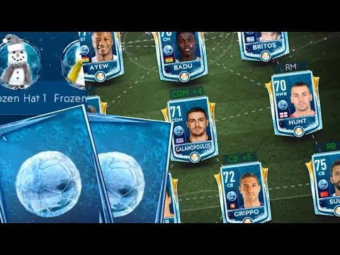 Football Freeze Pack Opening and Full Football Freeze Squad Gameplay! FIFA Mobile 19