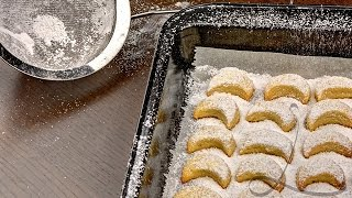 (eng Sub) Resep Kue Putri Salju ( Vanillekipferl / Vanilla Crescent Cookies )  Resep Kue Kering