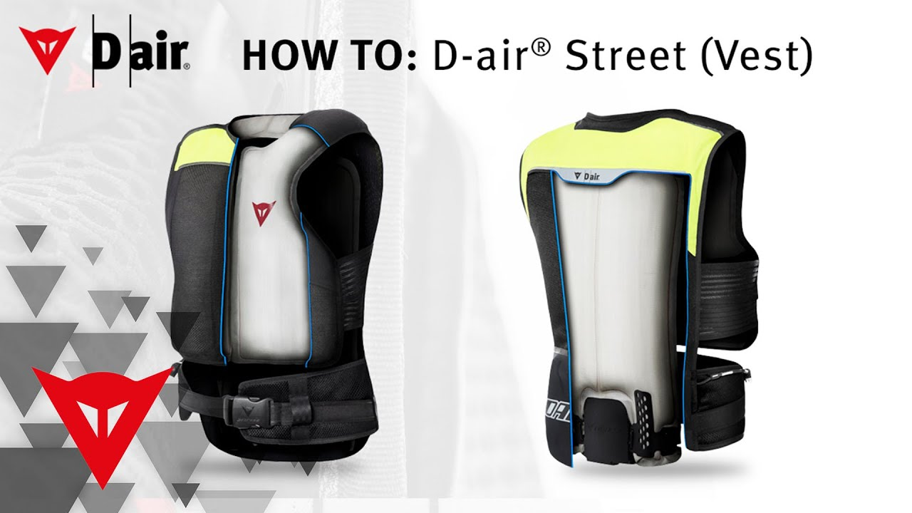 dainese how to d air street vest youtube. Black Bedroom Furniture Sets. Home Design Ideas