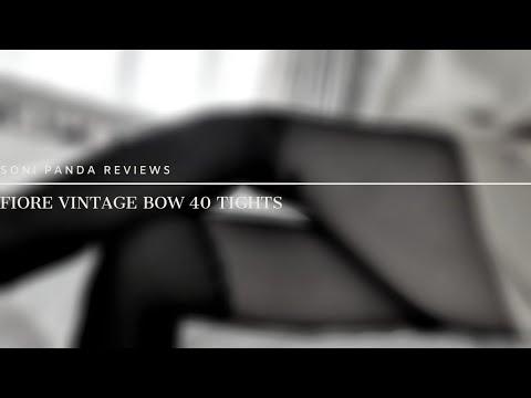 Soni Panda Reviews Fiore Vintage Bow 40 Tights