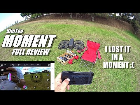 SimToo MOMENT Folding 4K GPS Selfie Drone - Full Review - Unboxing, Flight Test & FLY AWAY! 😰