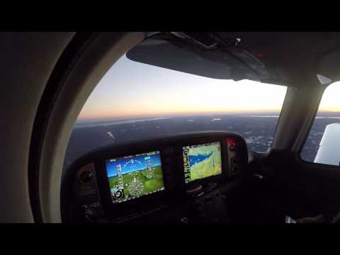 Sunset Flight With  Mom In The SR22