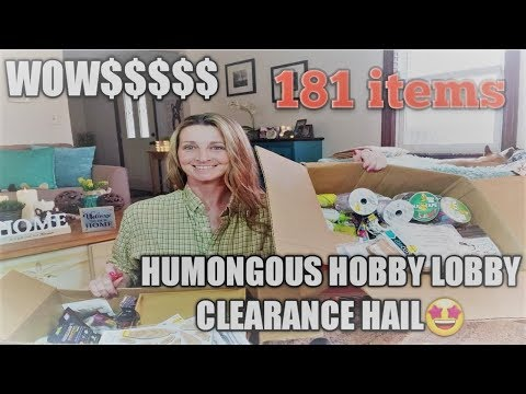 HUMONGOUS~ Hobby Lobby CLEARANCE Haul🤑 Amazing Finds/ New Giveaway