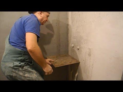 Как вывести стены в прямой угол для ванны
