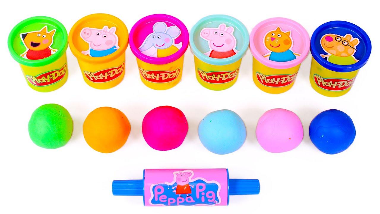 Descubre las SORPRESAS de PEPPA PIG en los botes de Play Doh ✨🐷🎁 Vídeos para niños.