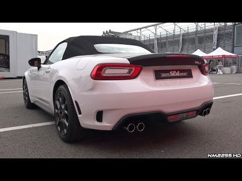 2016 Abarth 124 Spider Exhaust Sound - Start Up, Revs & Loading Onto Truck