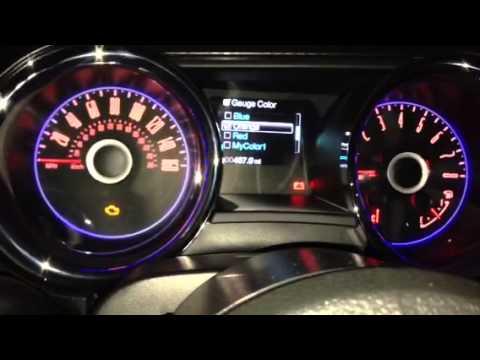 2014 Mustang GT interior lighting - YouTube