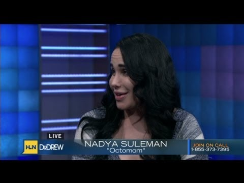 Nadya Suleman answers questions on HLN's Dr. Drew.