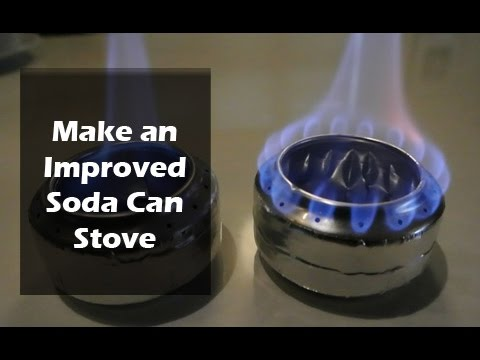 How To Make A Soda Can Stove Old Vs Improved Design
