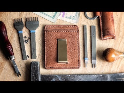 Leather DIY: Traditional Money Clip Card Wallet
