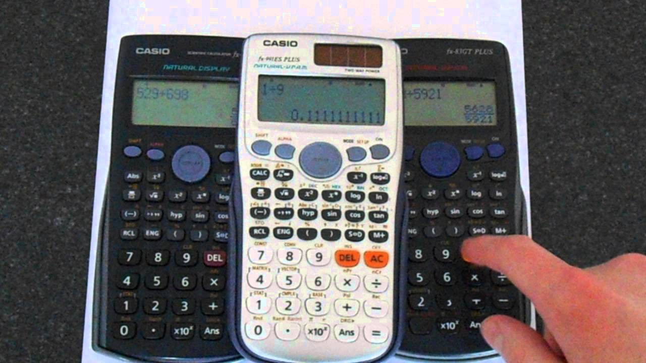 Casio Calculator Fractions to Decimals (and back) - YouTube