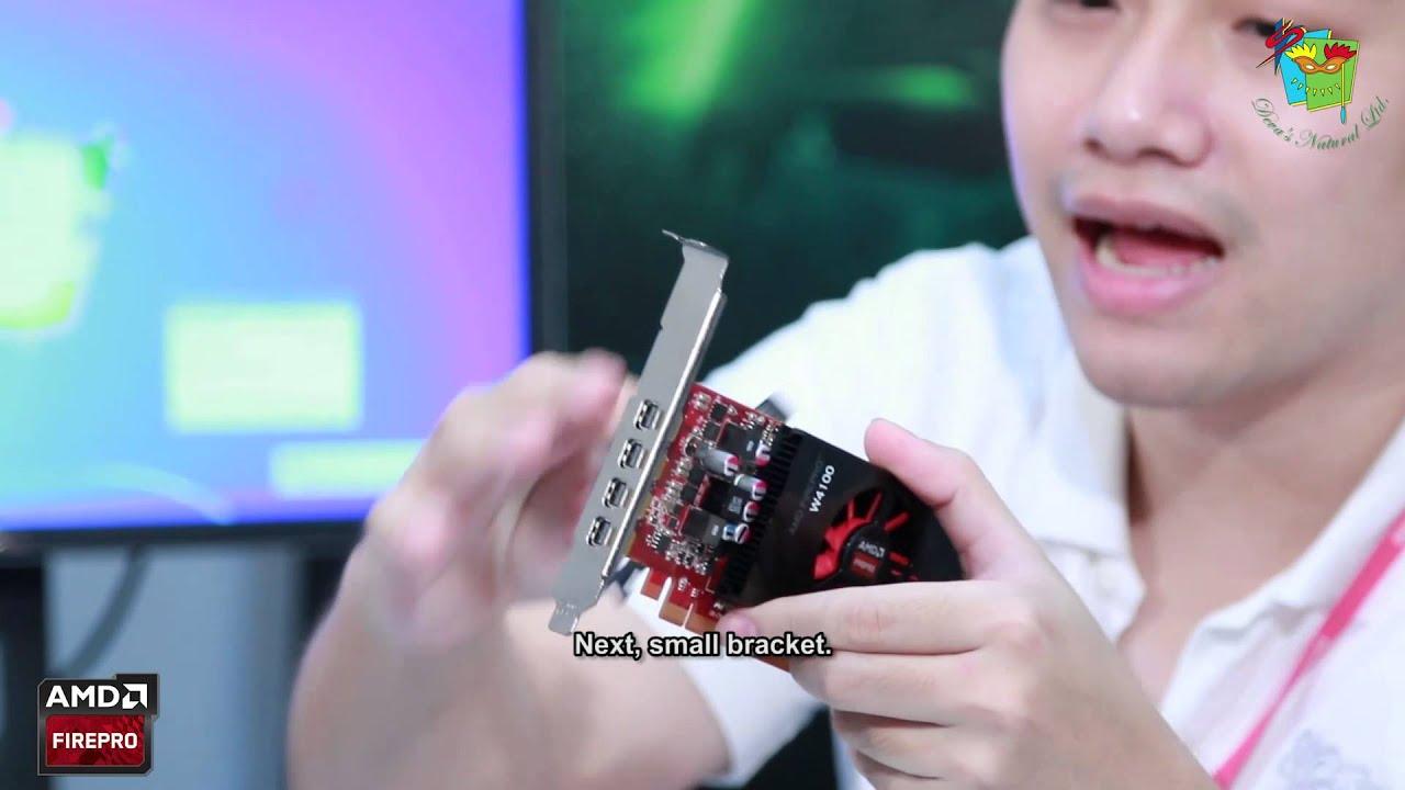 รีวิว ( review ) - AMD FirePro W4100 ( English subtitle ) by Deva's Natural  Ltd