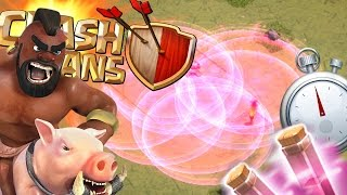 Clash of Clans - MAX HOGS & 22 HASTE SPELLS! NEW UPDATE HASTE SPELLS! Do They Work?