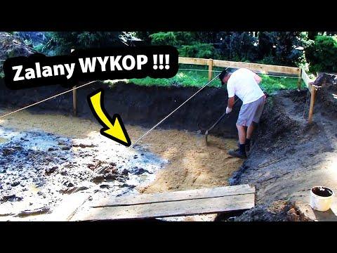 Zalany WYKOP pod Fundamenty !!! - Co Robić ??? (Część 7/47)