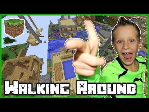 Walking Around My Realm in Minecraft