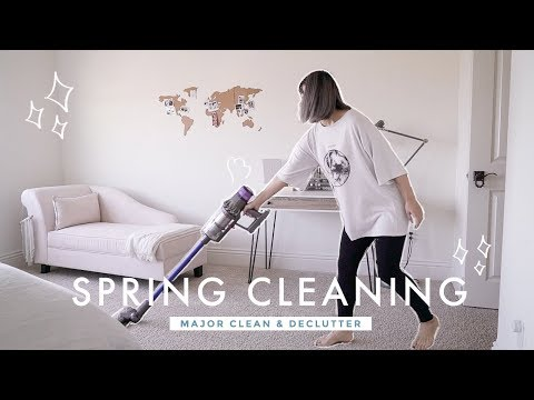 Spring Clean With Me 2019 ✨ MAJOR cleaning, decluttering, organizing