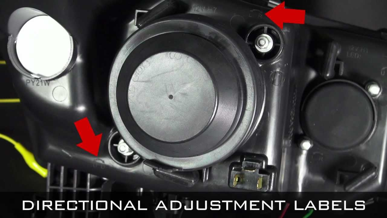 Spyder Auto Installation Head Light Adjustment Guide
