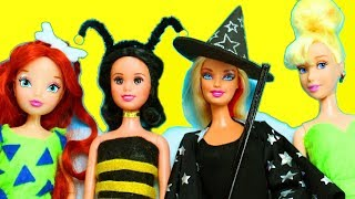 DIY BARBIE DOLL HALLOWEEN COSTUMES  - simplekidscrafts