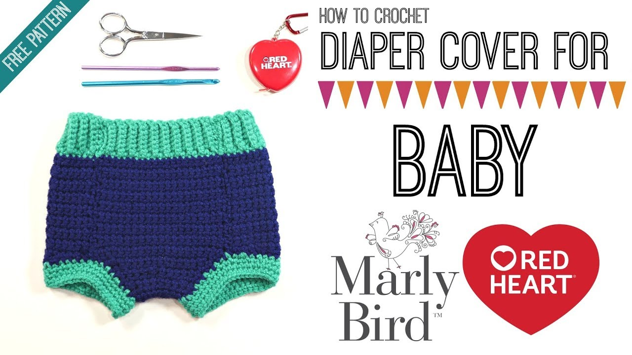 How To Crochet Diaper Cover Right Handed Youtube