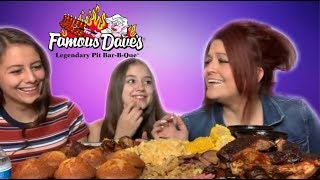 Famous Dave's BBQ With My Daughter's!! Collab With The Southern Snackers!!! 💋