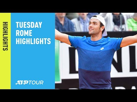 Highlights: Berrettini Upsets Zverev; Kyrgios Beats Medvedev Tuesday Rome 2019