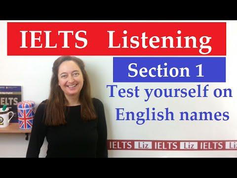 IELTS Listening: English Names