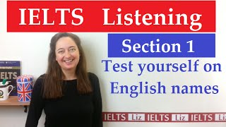 IELTS Listening: English Names