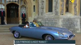 Meghan-Harry leaves for post wedding bash in a Jaguar