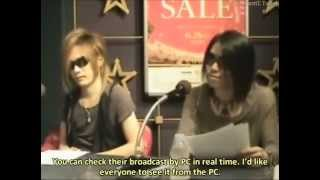 the GazettE - Aoi and Uruha on NEC Power Countdown Hot 30 [11.07.2009] [English Subtitles]