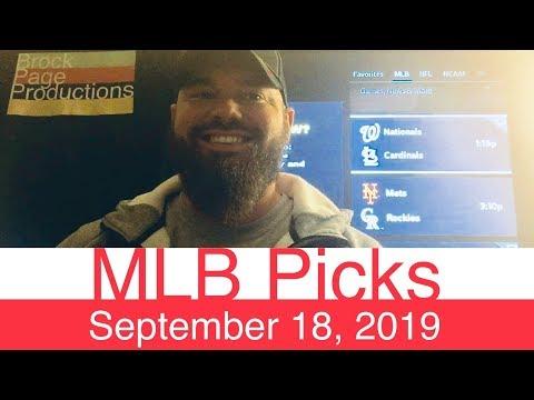 MLB Picks (9-18-19) | Major League Baseball Expert Predictions | Vegas Lines & Odds