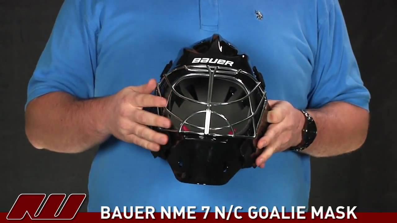 10c8810dced Bauer NME 7 N C Goalie Mask - YouTube