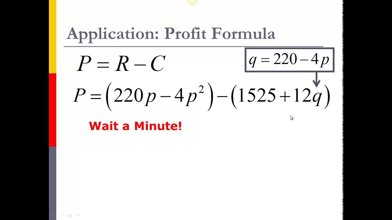 maximum profit quadratic functions Real world quadratic functions maximum profit a chain store manager has been told by the main office that daily profit, p, is related to the number of clerks working that day, x, according to the function p = 25x2 + 300x.
