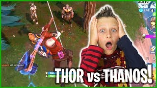 THOR vs THANOS WITH NEW STAR LORD MARVEL OUTFIT!!!