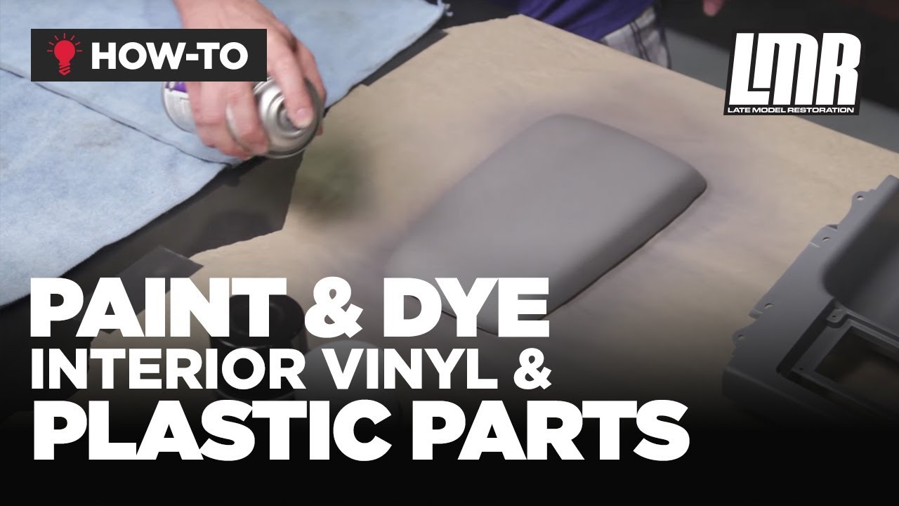 how to paint dye interior vinyl plastic parts mustang tech fox body sn95 s197 youtube