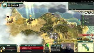 Civilization 5 Multiplayer 150: Assyria [1/4] ( BNW 8 Player Free For All) Gameplay/Commentary
