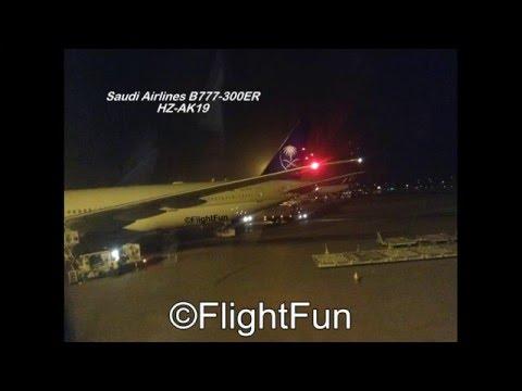 Saudi Airlines Night Arrival At King Khaled International ...