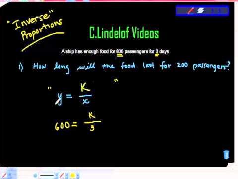 Inverse Proportions Word Problems Youtube