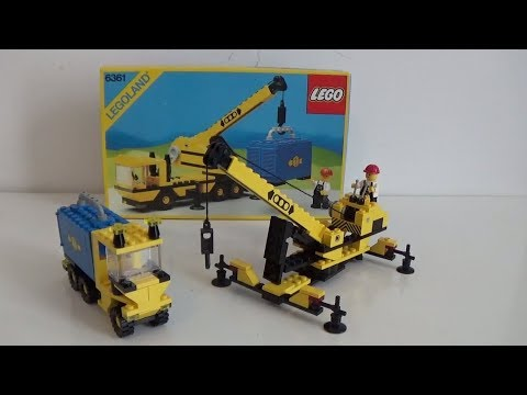 Vintage Lego 6361 Mobile Crane From 1986.. Alternate Builds From Back Of The Box!