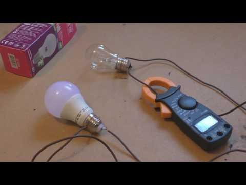 Ток потребления светодиодной лампочки LED