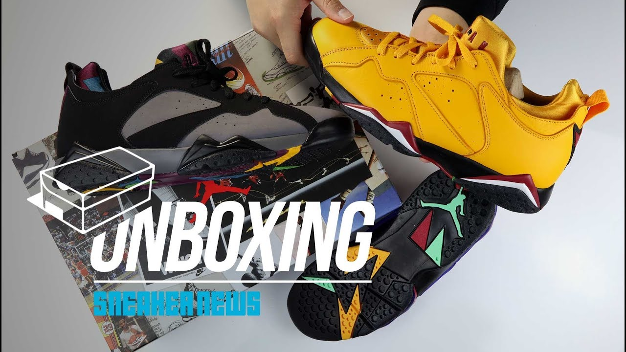 quality design 889ad 044a9 Air Jordan 7 Low Unboxing + Review