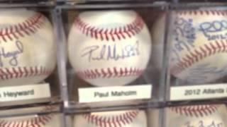Atlanta Braves signed baseballs