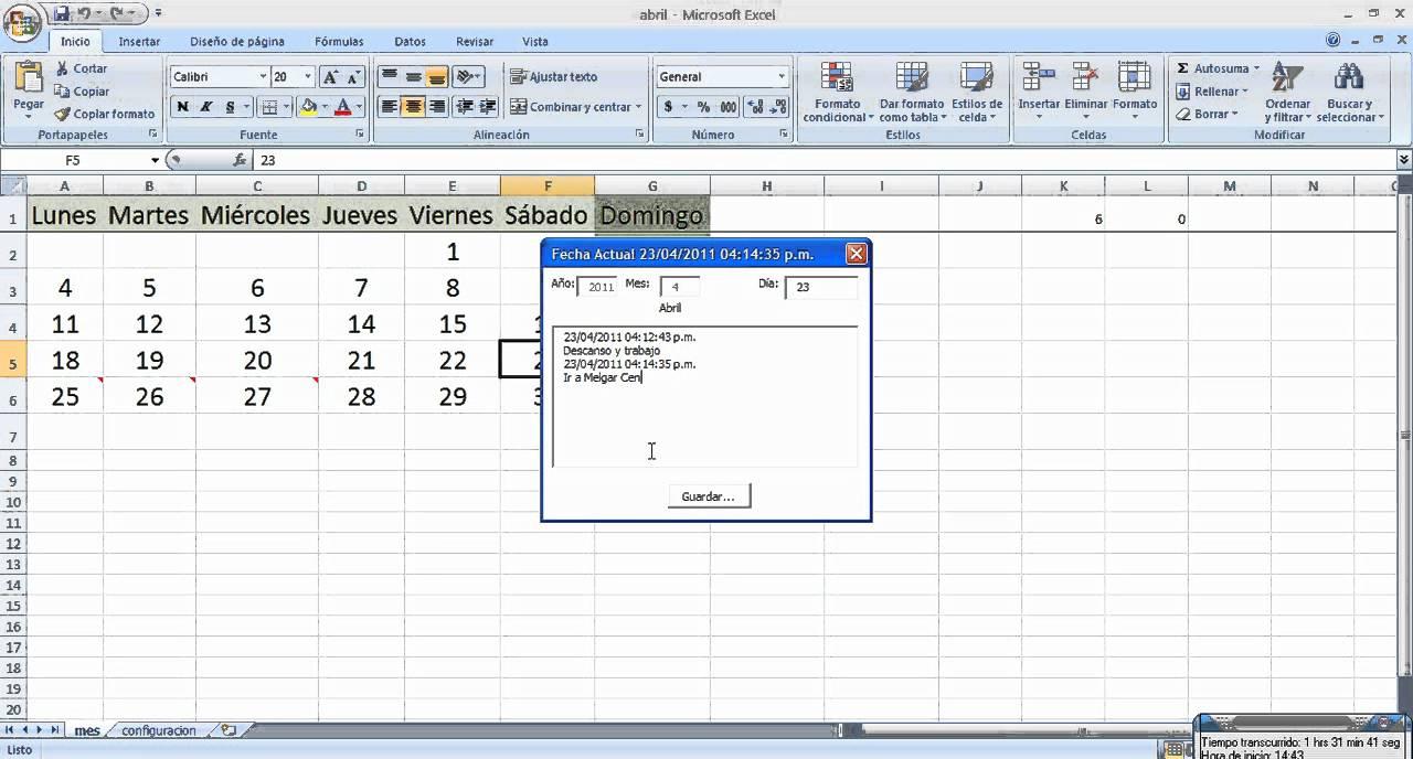 crear calendarios con excel macros y plantillas generar anotaciones ...