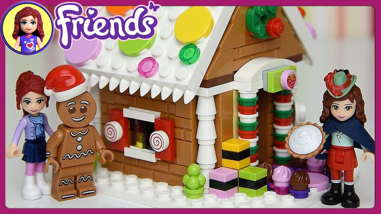 Lego Friends Christmas Sets.Lego Friends Build Christmas Gingerbread House Set Build Review Play Kids Toys